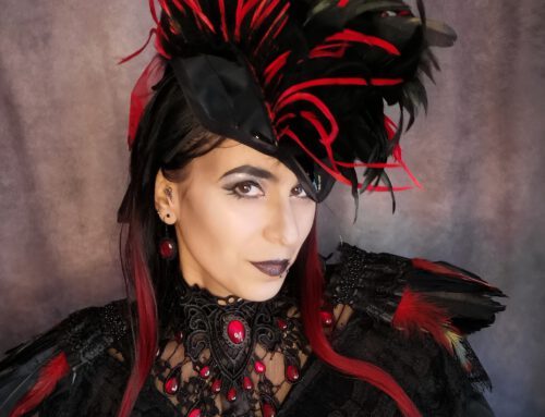 Headdress Lack Leder Red